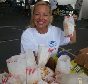 marriott gm making popcorn bags