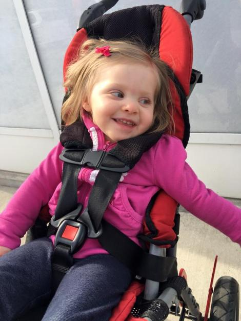 2016 Convaid Ambassador Kyla lives with Cerebral Palsy and enjoys mobility in her Convaid Rodeo