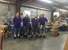 East CoasEast Coast backhouse team handsome in purple